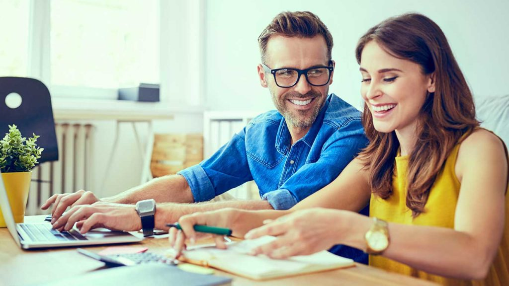 Budgeting-couple-Together-Planning